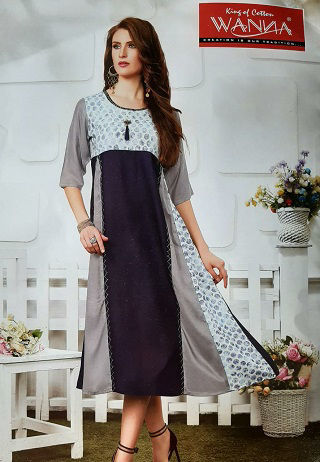 Picture of Tops-Rayon Skirt Type Kurti